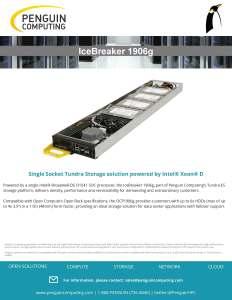 Penguin Computing IceBreaker 1906g Datasheet