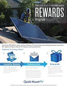 QMPV Installer Loyalty Rewards Program Flyer