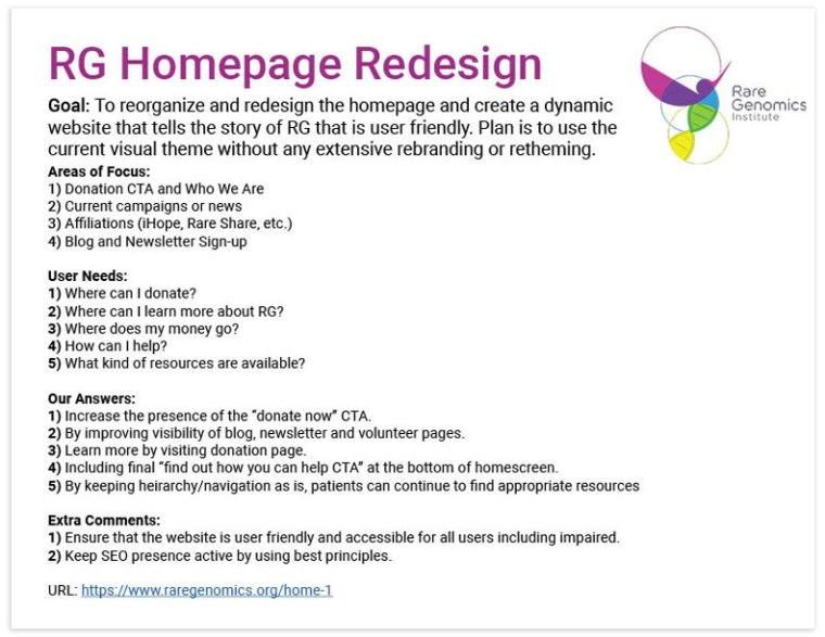 RareWear homepage redesign documentation